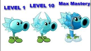 Plants vs Zombies 2   SNOW PEA   Level 1 - level 10 - 200 Mastery. PVZ 2 Gameplay