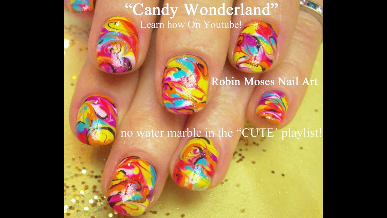 No Water Needed - DIY Marble nail art Tutorial - YouTube