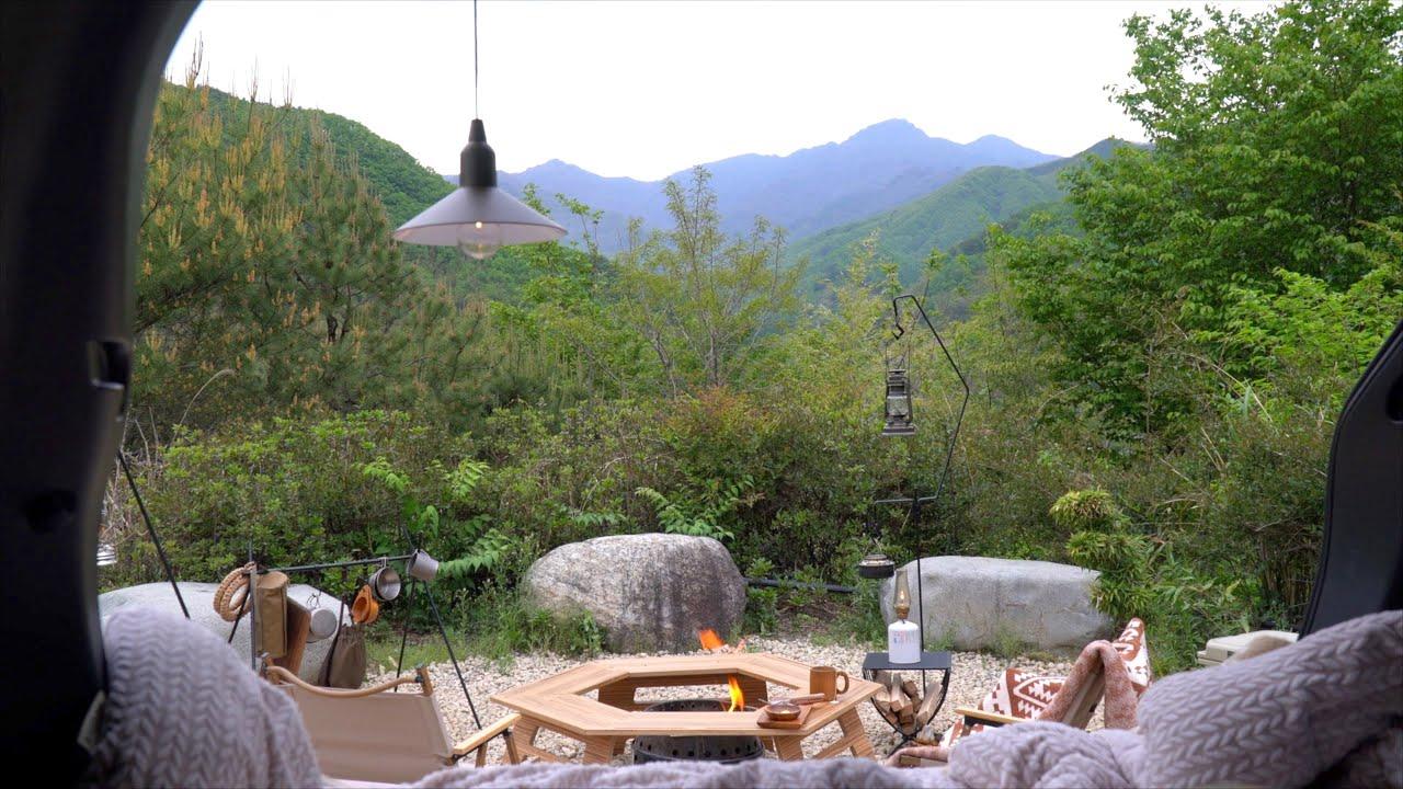 [캠핑] 지리산 천왕봉 바라보며 차박캠핑ㅣ열흘간의 즉흥캠핑여행 ep.4ㅣ마운틴뷰 캠핑장ㅣ싼타페 차박ㅣ캠핑요리ㅣcamping (eng)