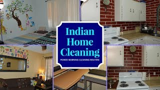 Indian SAHM Daily Cleaning Routine (Hindi) || Full House Cleaning Under 1 Hour || Real Homemaking