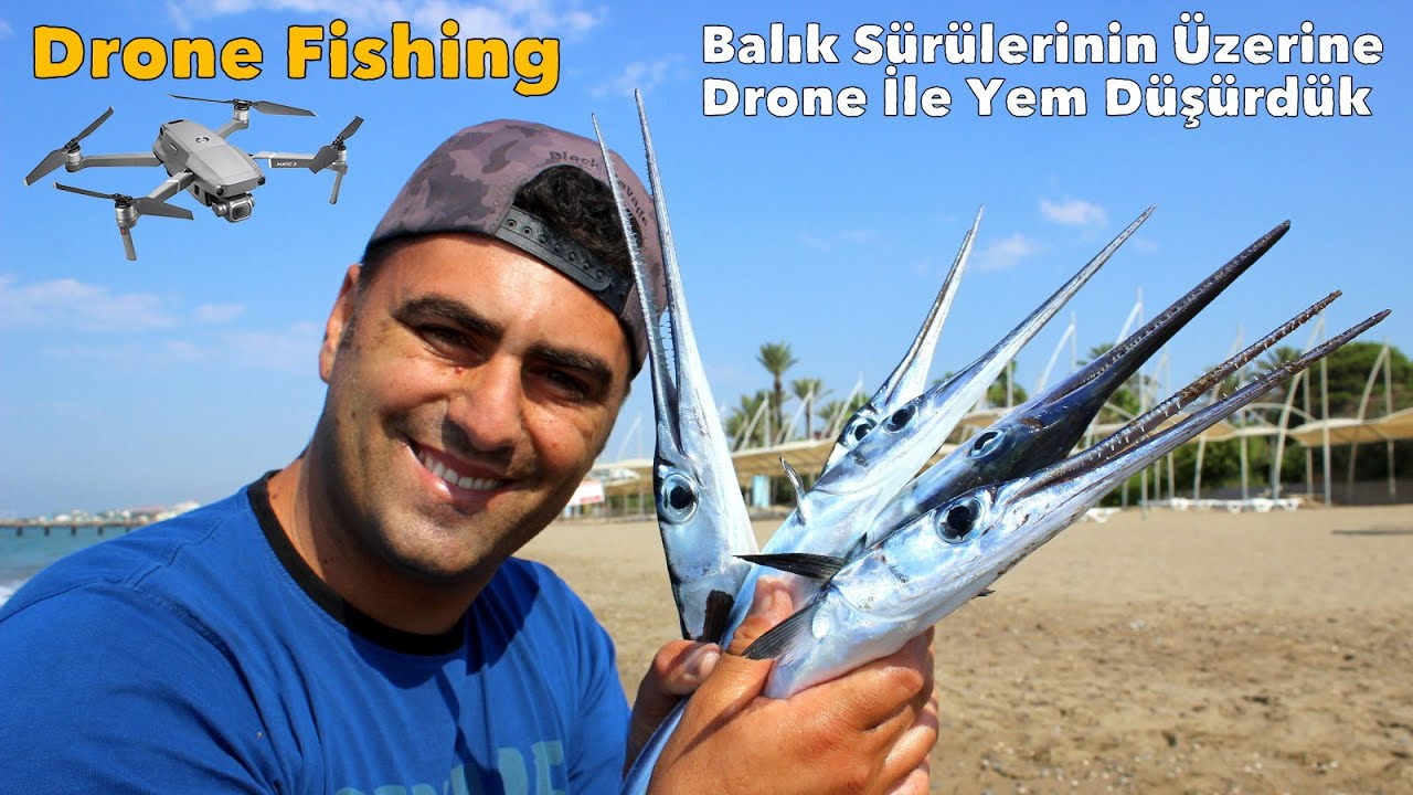 Kıyıdan Drone İle Balık Avladık / Öyle İnanılmaz Sürüler Gördük Ki !!