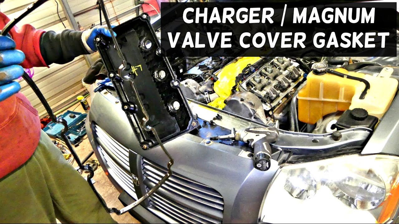 small resolution of dodge charger valve cover gasket replacement 3 5 v6 dodge magnum youtube