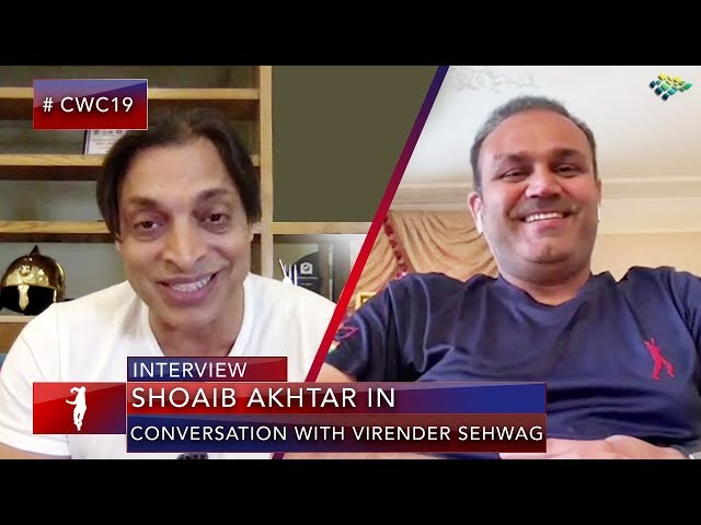 Shoaib Akhtar in Conversation with Virender Sehwag | Pakistan vs India | World Cup 2019