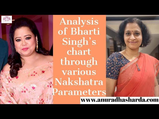 Nakshatra Analysis of Bharti Singh's Chart through Various  Nakshatra parameters