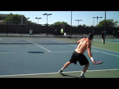 Tommy Haas Working Out With Nick Bollettieri www.vidaloo.com