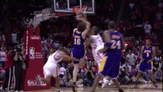 Ron Artest receives his second 'flagrant' foul on Gasol - [HD] - 050809: Houston/Los Angeles