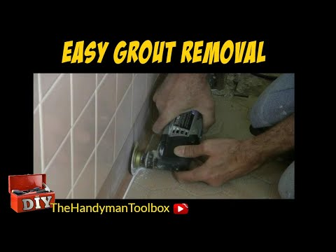 grout removal with a dremel oscillating tool doovi. Black Bedroom Furniture Sets. Home Design Ideas
