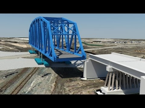 3D Visualization Helps Design, Move and Install World's Largest Pre-Assembled Rail Truss Bridge