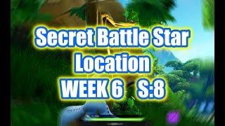 Week 6 - Secret Battle Star Location - Season 8 (Fortnite)