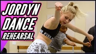 JORDYN JONES BEHIND THE SCENES  DANCE REHEARSALS