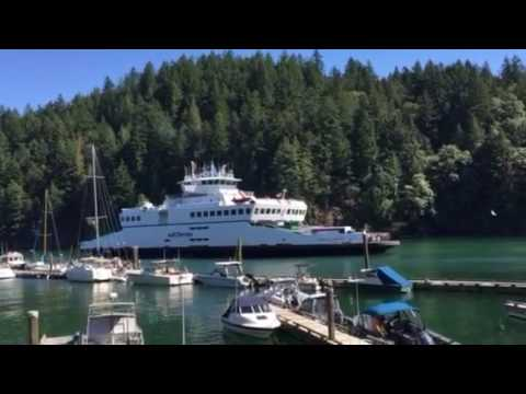 BC Ferry docks in SnugCove BowenIsland Vancouver