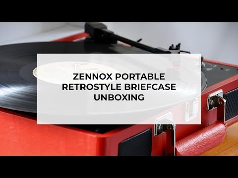 Zennox Portable Retro Style Briefcase Unboxing