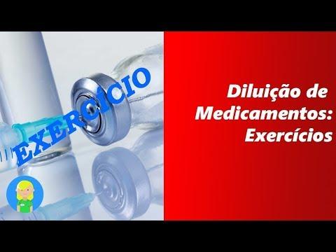 cálculo-de-diluição-de-medicamentos:-exercícios