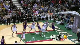 04 01 2009   Lakers vs  Bucks   2nd Half Highlights