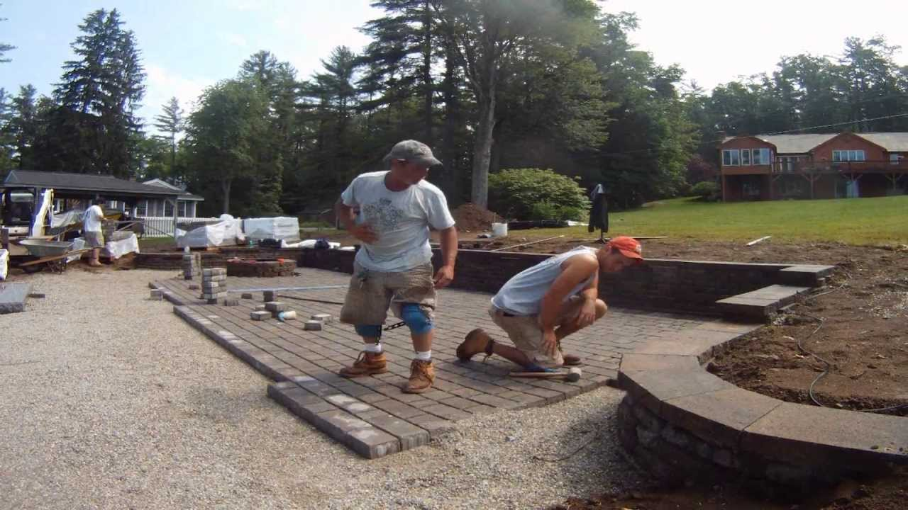 Permeable Paver Patio Installation Time Lapse