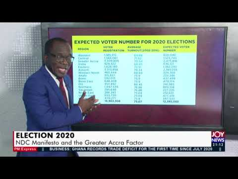 Election 2020: NDC Manifesto and the Greater Accra Factor - PM Express on Joy News (8-9-20)