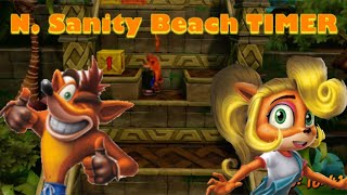 Crash Bandicoot N. Sane Trilogy N. Sanity Beach Timer (With Both Characters!)