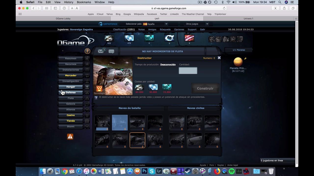 9d7750c95154 Ogame ES Uni1 Gameforge Safari MAC - YouTube