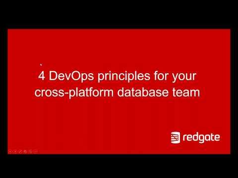 4 DevOps principles for your cross platform database team