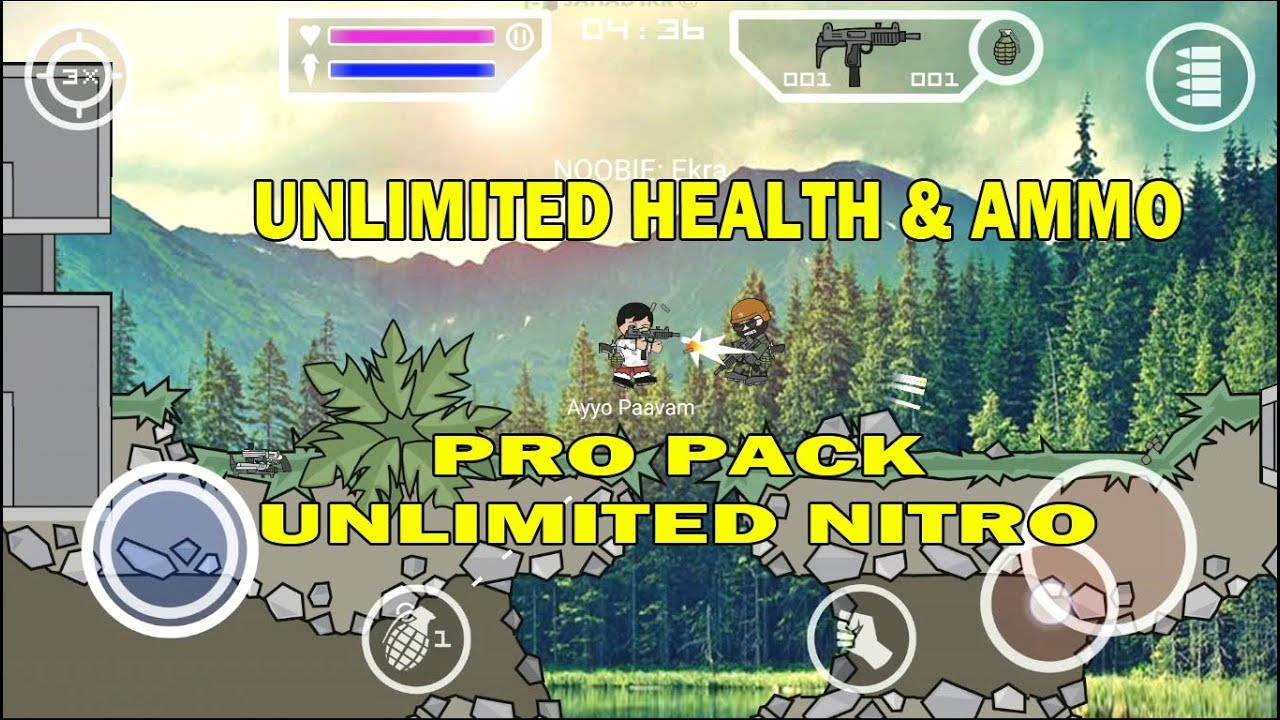Download Hack Version Of Mini Militia Unlimited Ammo And Nitro