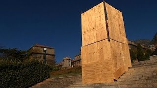 Controversial Rhodes statue boarded up in Cape Town