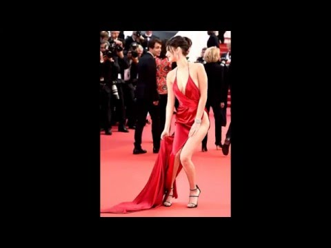 At Cannes-Bella Hadid Sufferes Wordrobe Malfunction 2016