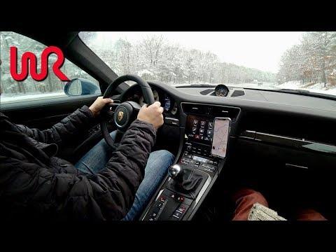 2018 Porsche 911 GT3 Manual  Snow Drive -  991.2 Tedward POV (Binaural Audio)