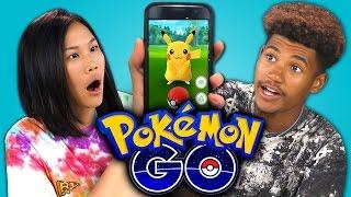 Repeat youtube video TEENS REACT TO POKEMON GO (APP)