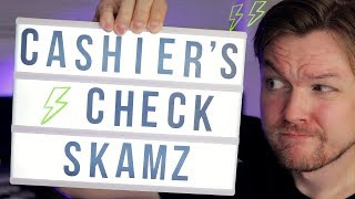 Cashiers Check Scams   Scams and Frauds [Exposed]   Most Popular Scams to watch out for