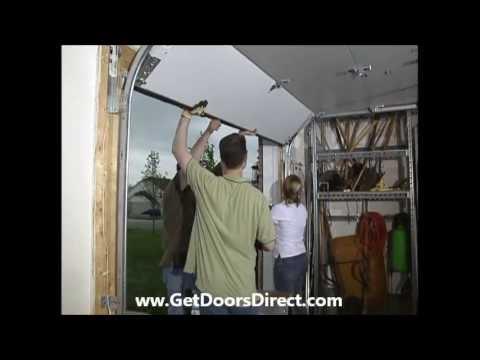 Garage door how to install menards doovi for Fimbel garage door prices