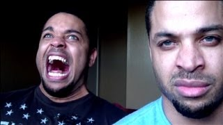 Repeat youtube video Kid Believes He's From Dragonball Z And Tries To Go Super-Saiyan On Camera! @Hodgetwins