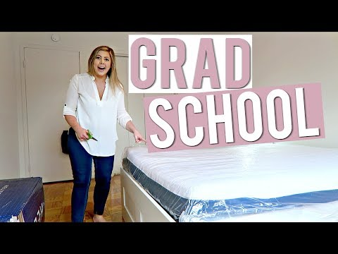 MY FIRST DAY OF GRAD SCHOOL! + Exciting Apartment Unboxing