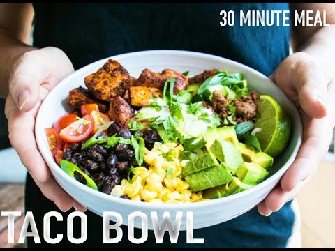 HOW TO MAKE TACO BOWL (HEALTHY) 30 MINUTE MEAL