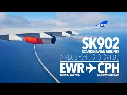 TRIP REPORT | A340 SAS NIGHT FLIGHT | New York - Copenhagen