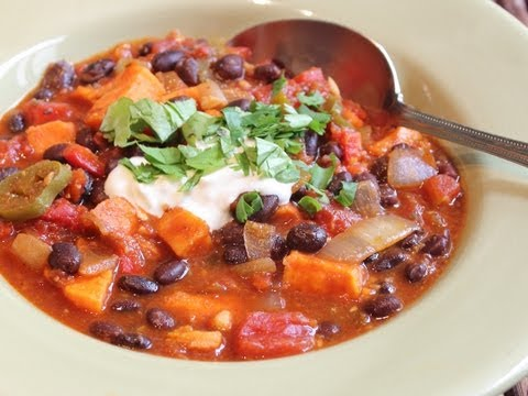 Sweet Potato & Black Bean Chili - Help Fight Childhood Malnutrition!