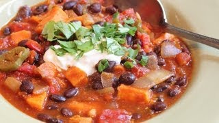 Sweet Potato & Black Bean Chili - Help Fight Childhood Malnutrition!