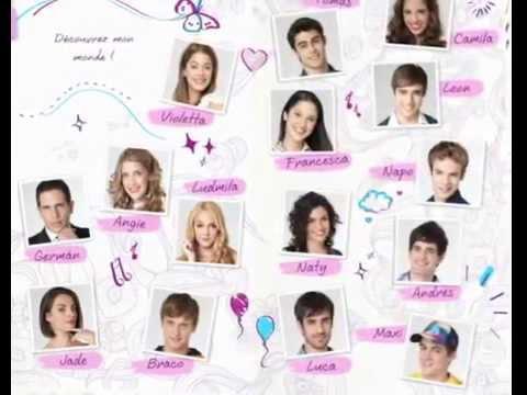 Personnage des episodes de violetta youtube - Violetta personnage ...