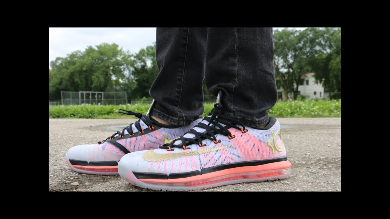 separation shoes eb8dd ac622 Nike KD 6 Elite Gold - On Foot