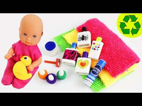 10 Easy DIY Miniature Bathroom Products - each in less than 1 minute #2 - simplekidscrafts