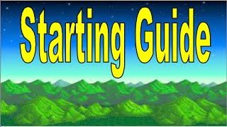 Stardew Valley - Beginners Starting Guide