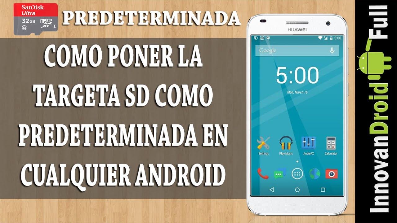 android 5 tarjeta de memoria