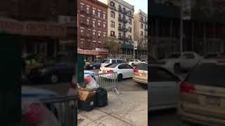 White BMW runs from the cops NYPD NYC (Washington Heights)