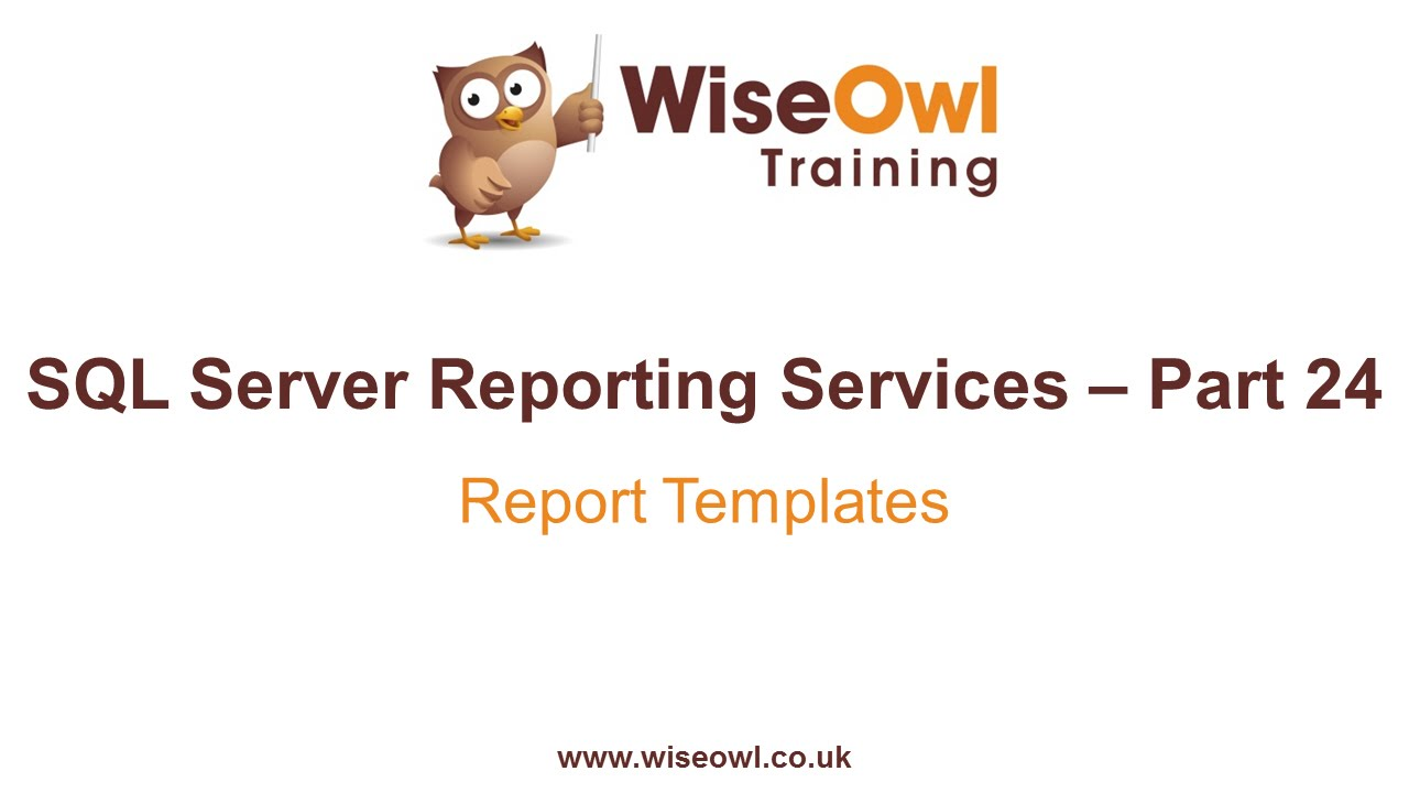 Reporting Services Ssrs Part 24 Report Templates Youtube