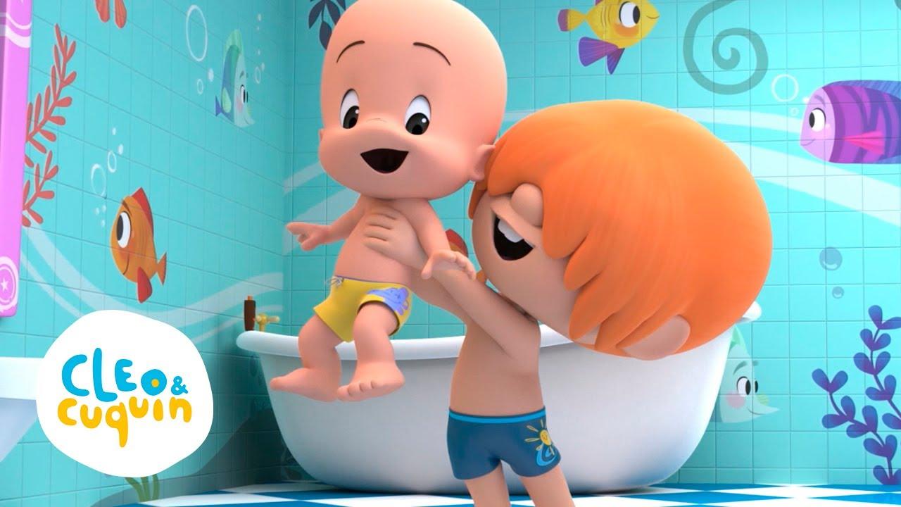 La Canción del baño - Canta canciones infantiles con Cleo y Cuquin | Familia Telerin