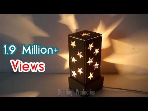 How To Make A Starry Cardboard Lampshade - DIY Home Tutorial