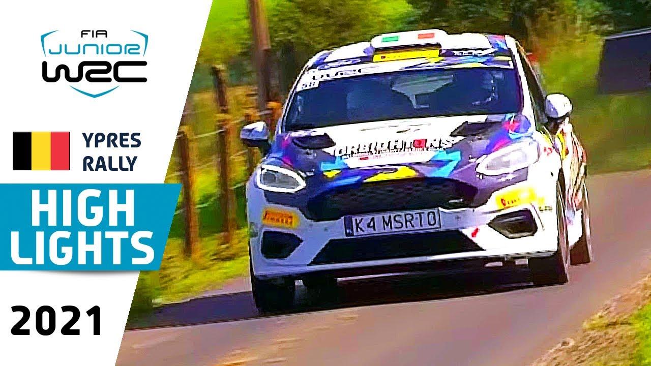 Junior WRC HIGHLIGHTS Day 2 : Renties Ypres Rally Belgium 2021