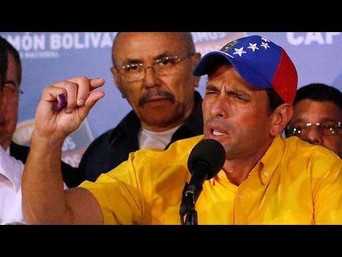 Capriles no reconoce la victoria de Nicolás Maduro.