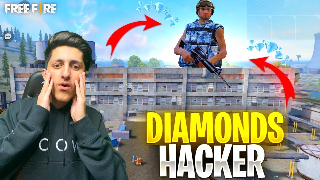 Diamond Hacker ? Call Me Noob ?आजा 1 vs 3 में !! ?  घमंडी Hacker - Garena Free Fire