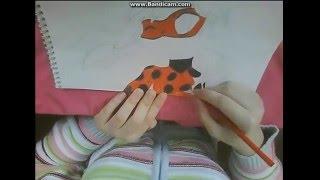 """Как я рисую ЛедиБаг из мультика """"Леди Баг и Супер-кот"""" 2D"""