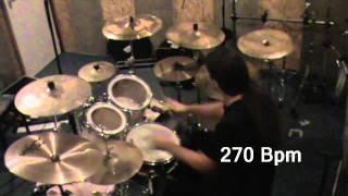 Tamas Galantay blastbeat variations and jamming up to 300 Bpm